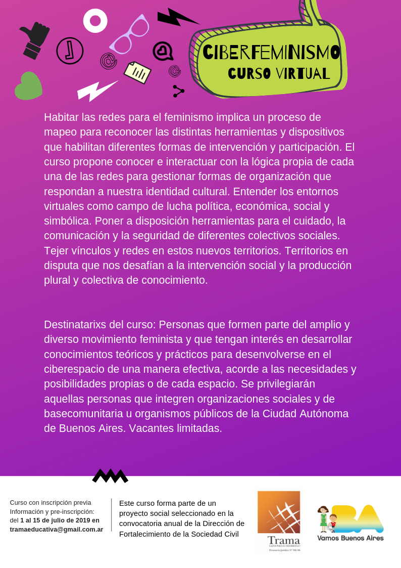 aficheta ciberfeminismo
